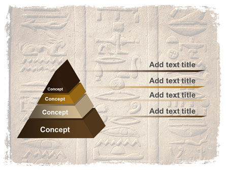 Egyptian Petroglyphs PowerPoint Template, Slide 4, 06448, Education & Training — PoweredTemplate.com