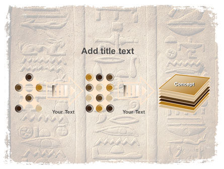 Egyptian Petroglyphs PowerPoint Template Slide 9