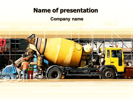 Concrete Agitator PowerPoint Template, 06449, Construction — PoweredTemplate.com