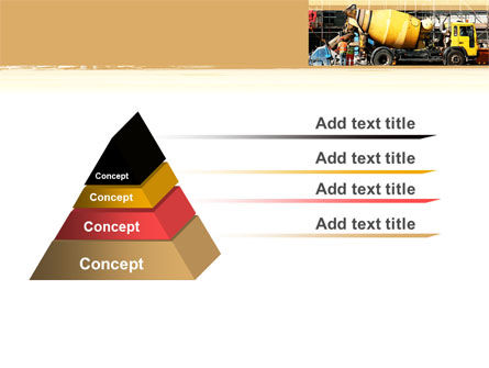 Concrete Agitator PowerPoint Template, Slide 4, 06449, Construction — PoweredTemplate.com