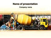 Construction: Concrete Agitator PowerPoint Template #06449