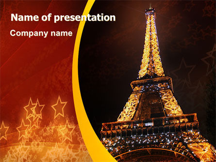 Flags/International: Holiday Eiffel Tower PowerPoint Template #06450