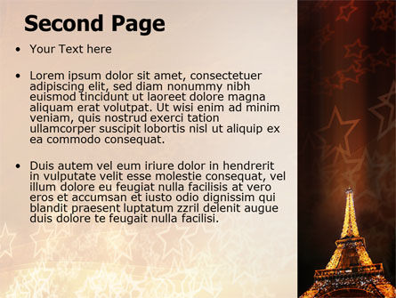 Holiday Eiffel Tower PowerPoint Template Slide 2
