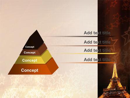 Holiday Eiffel Tower PowerPoint Template, Slide 4, 06450, Flags/International — PoweredTemplate.com