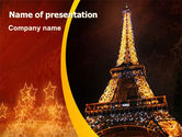 Flags/International: Plantilla de PowerPoint - torre eiffel de vacaciones #06450