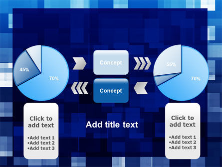 Blue Cubical Theme PowerPoint Template Slide 11