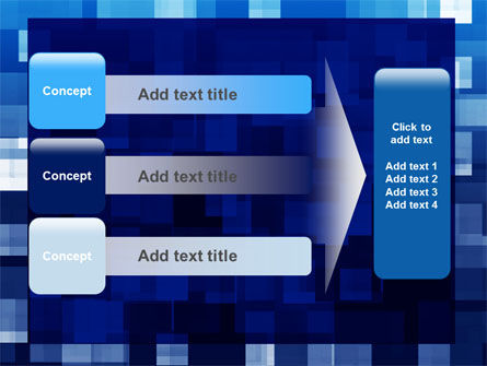 Blue Cubical Theme PowerPoint Template Slide 12