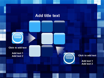 Blue Cubical Theme PowerPoint Template Slide 16