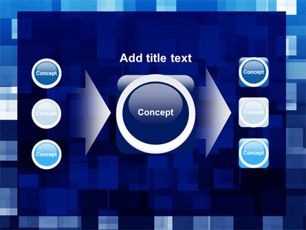 Blue Cubical Theme PowerPoint Template Slide 17