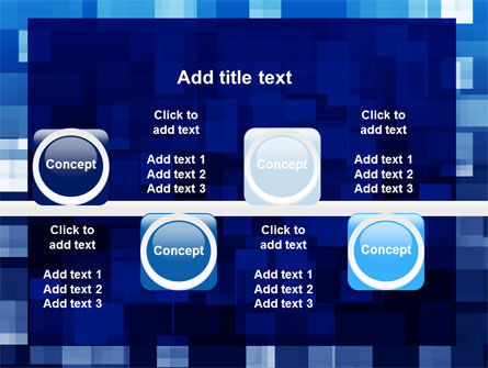 Blue Cubical Theme PowerPoint Template Slide 19