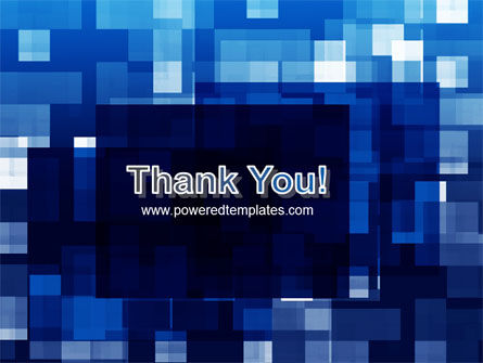 Blue Cubical Theme PowerPoint Template Slide 20