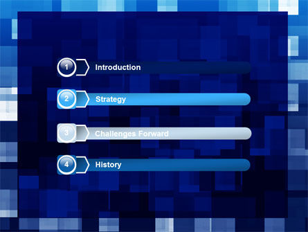 Blue Cubical Theme PowerPoint Template Slide 3