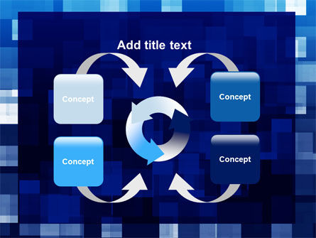 Blue Cubical Theme PowerPoint Template Slide 6