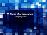 Abstract/Textures: Blue Cubical Theme PowerPoint Template #06453