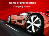 Cars and Transportation: Red Supercar PowerPoint Template #06454