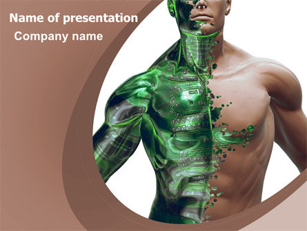 Technology and Science: Modified Man PowerPoint Template #06455