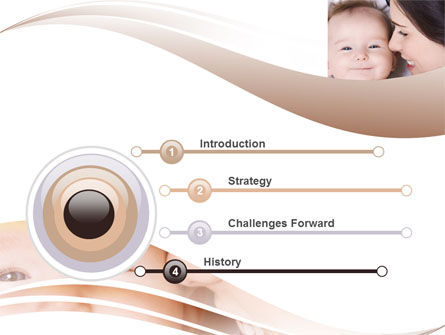 Baby Smile PowerPoint Template, Slide 3, 06456, People — PoweredTemplate.com