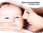 People: Baby Smile PowerPoint Template #06456