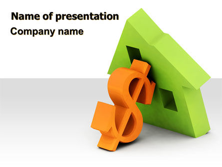 Financial/Accounting: Mortgage Money PowerPoint Template #06459