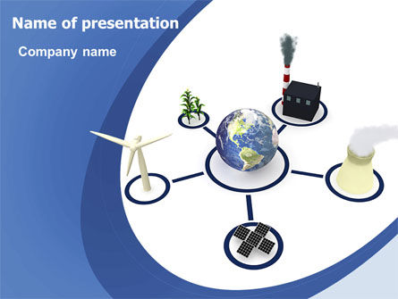 Nature & Environment: Energieressourcen PowerPoint Vorlage #06460