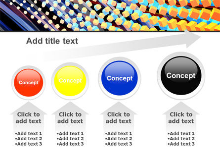 Abstract Defragmentation PowerPoint Template Slide 13