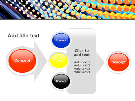Abstract Defragmentation PowerPoint Template Slide 17