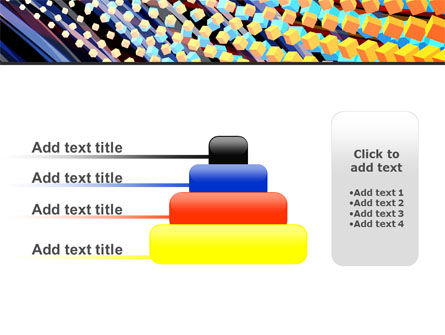 Abstract Defragmentation PowerPoint Template Slide 8