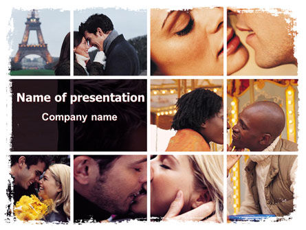 Holiday/Special Occasion: Kissing PowerPoint Template #06462