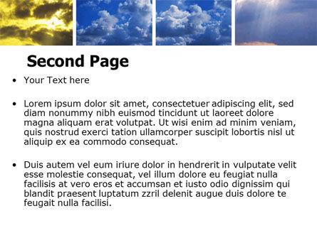 Various Clouds PowerPoint Template, Slide 2, 06464, Nature & Environment — PoweredTemplate.com