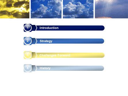 Various Clouds PowerPoint Template, Slide 3, 06464, Nature & Environment — PoweredTemplate.com