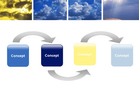 Various Clouds PowerPoint Template, Slide 4, 06464, Nature & Environment — PoweredTemplate.com