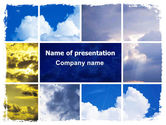 Nature & Environment: 様々な雲 - PowerPointテンプレート #06464
