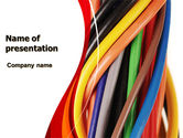 Telecommunication: Cables PowerPoint Template #06465