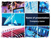 Telecommunication: Television PowerPoint Template #06469
