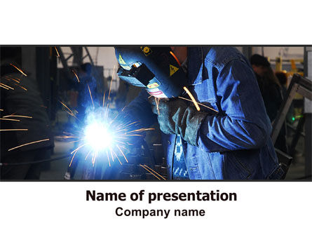 Utilities/Industrial: Arc Welding PowerPoint Template #06470