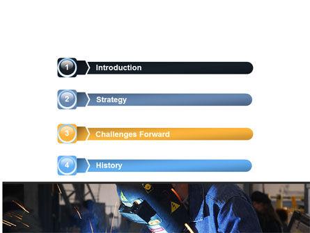 Arc Welding PowerPoint Template, Slide 3, 06470, Utilities/Industrial — PoweredTemplate.com