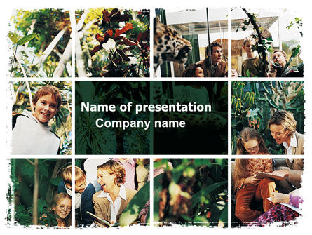 Jungle Showcase PowerPoint Template, 06471, Education & Training — PoweredTemplate.com