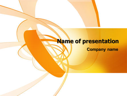 Orange Ribbon PowerPoint Template