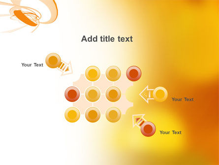 Orange Ribbon PowerPoint Template Slide 10