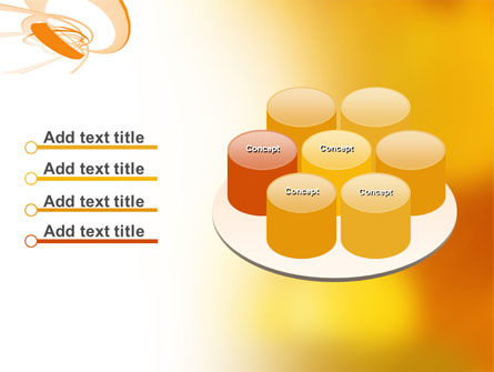 Orange Ribbon PowerPoint Template Slide 12
