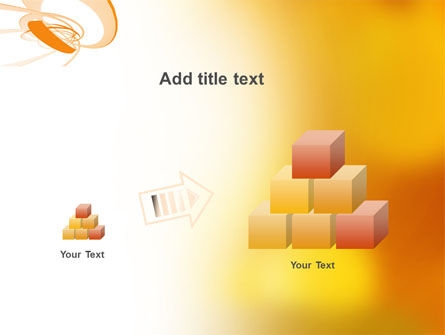 Orange Ribbon PowerPoint Template Slide 13