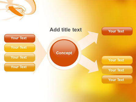Orange Ribbon PowerPoint Template Slide 15