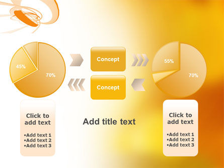 Orange Ribbon PowerPoint Template Slide 16