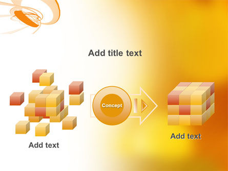Orange Ribbon PowerPoint Template Slide 17