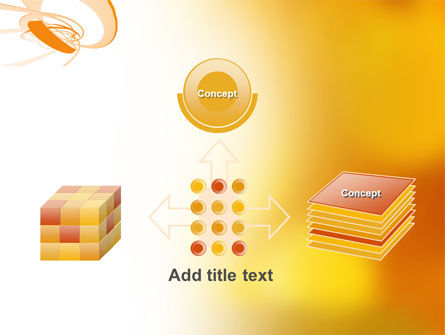 Orange Ribbon PowerPoint Template Slide 19