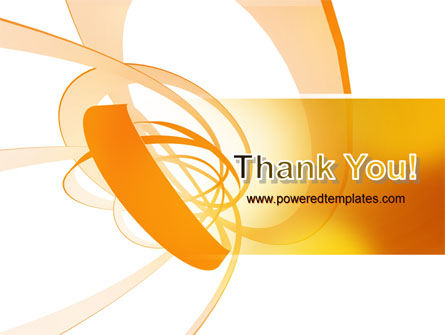 Orange Ribbon PowerPoint Template Slide 20