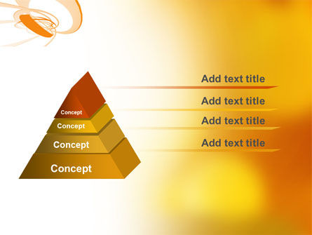 Orange Ribbon PowerPoint Template Slide 4