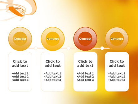 Orange Ribbon PowerPoint Template Slide 5
