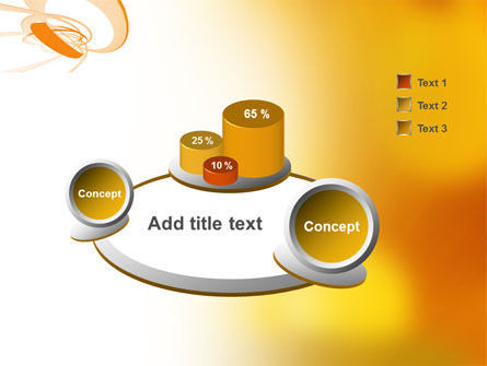 Orange Ribbon PowerPoint Template Slide 6