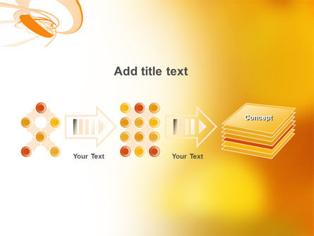 Orange Ribbon PowerPoint Template Slide 9